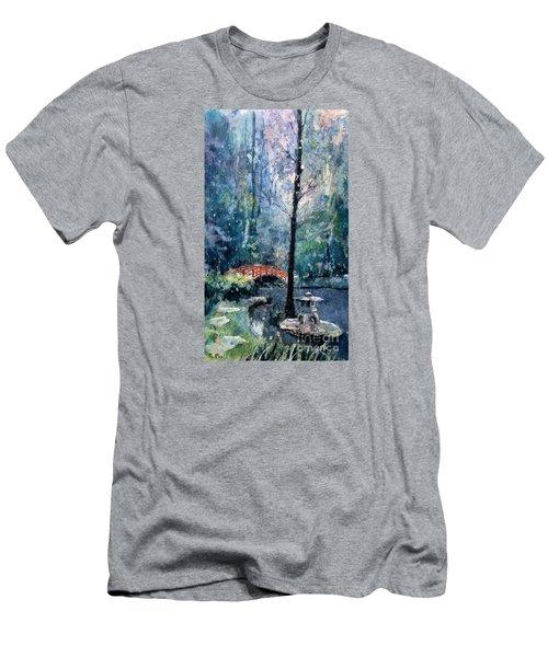 Duke Gardens Watercolor Batik Men's T-Shirt (Slim Fit) by Ryan Fox