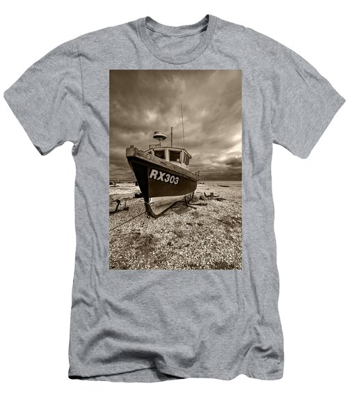Dungeness Boat Under Stormy Skies Men's T-Shirt (Athletic Fit)