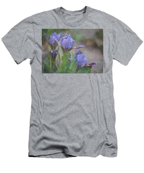 Men's T-Shirt (Slim Fit) featuring the photograph Dwarf Iris With Texture by Patti Deters