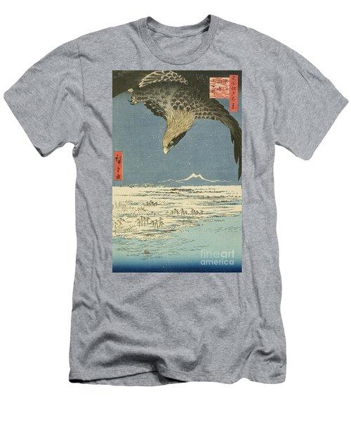 Eagle Over One Hundred Thousand Acre Plain At Susaki Men's T-Shirt (Athletic Fit)