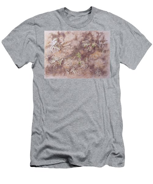 Men's T-Shirt (Slim Fit) featuring the mixed media Early Fall by Michele Myers