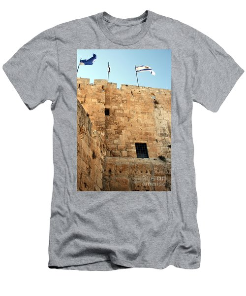 Men's T-Shirt (Slim Fit) featuring the photograph Early Morning At The Jaffa Gate by Doc Braham