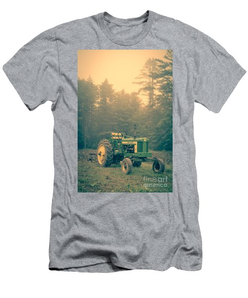 Early Morning Tractor In Farm Field Men's T-Shirt (Athletic Fit)