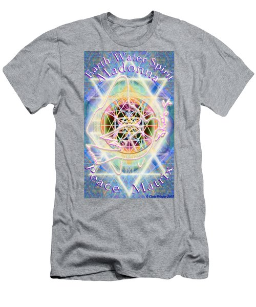 Earth Water Spirit Madonna Peace Matrix Men's T-Shirt (Athletic Fit)