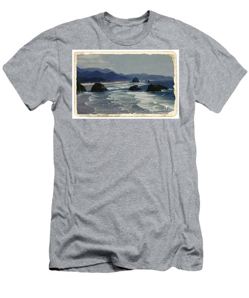 Ecola Sea Stacks Men's T-Shirt (Athletic Fit)