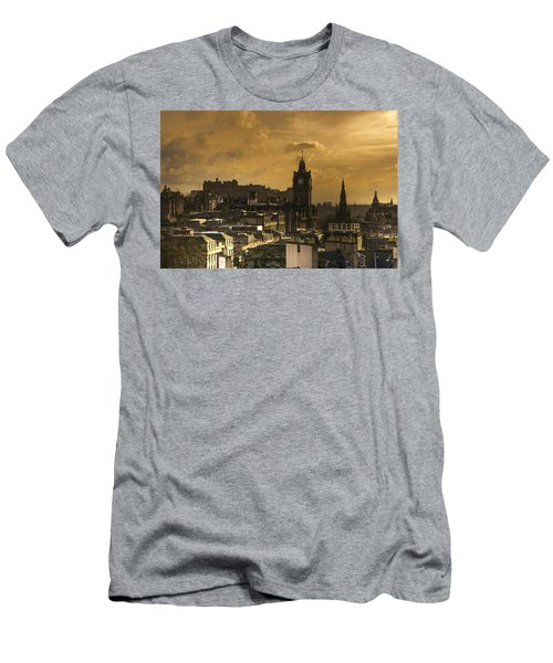Edinburgh Dusk Men's T-Shirt (Athletic Fit)