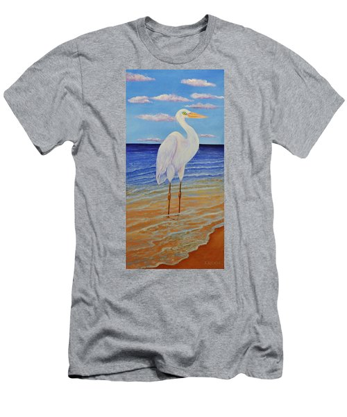 Eager Egret  Men's T-Shirt (Athletic Fit)