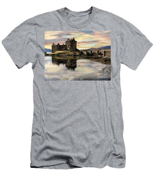 Eilean Donan Castle Scotland Men's T-Shirt (Slim Fit) by Jacqi Elmslie