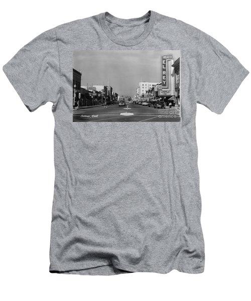 El Rey Theater Main Street Salinas Circa 1950 Men's T-Shirt (Athletic Fit)