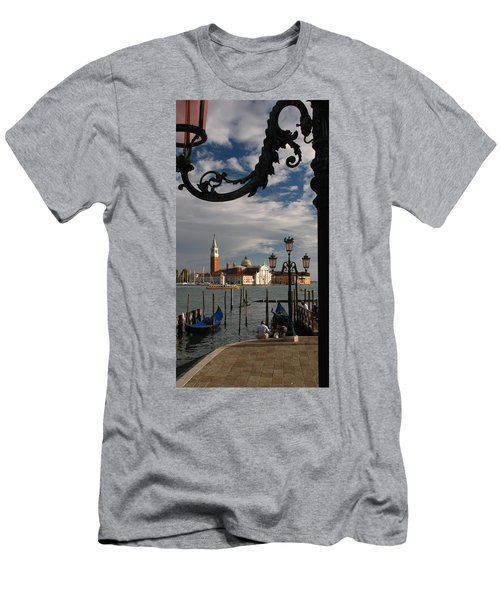 Elegant Lampost Men's T-Shirt (Slim Fit) by Jennifer Wheatley Wolf