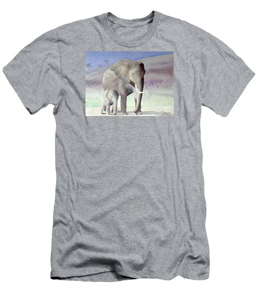 Elephant Family Men's T-Shirt (Athletic Fit)