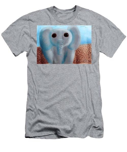 Animalart Elephant Men's T-Shirt (Slim Fit) by Joshua Maddison