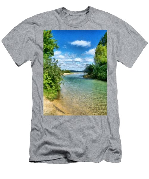Elk River- Elk Rapids Michigan Men's T-Shirt (Athletic Fit)