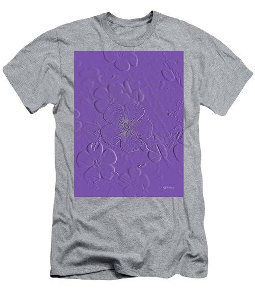 Embossed Bouquet  Men's T-Shirt (Athletic Fit)