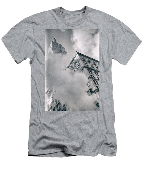 Empire State Building And Steam Men's T-Shirt (Athletic Fit)