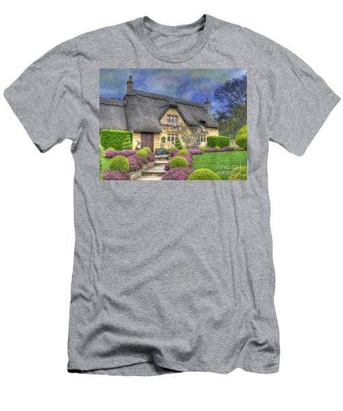 English Country Cottage Men's T-Shirt (Slim Fit) by Juli Scalzi