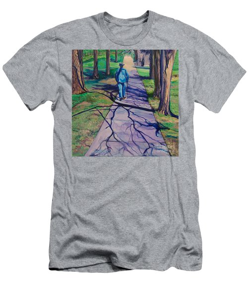 Men's T-Shirt (Slim Fit) featuring the painting Entanglement On Highway 98' by Ecinja Art Works