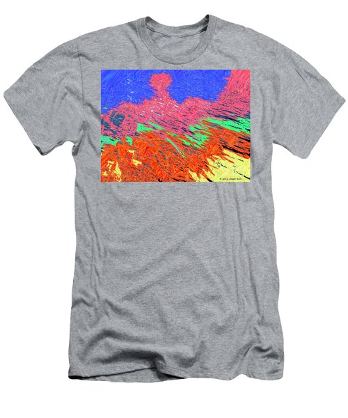 Erupting Lava Meets The Sea Men's T-Shirt (Slim Fit) by Joseph Baril