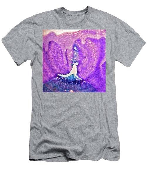 Eruption Tealpurple  Men's T-Shirt (Athletic Fit)