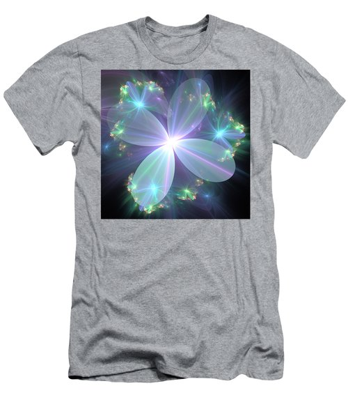 Ethereal Flower In Blue Men's T-Shirt (Athletic Fit)