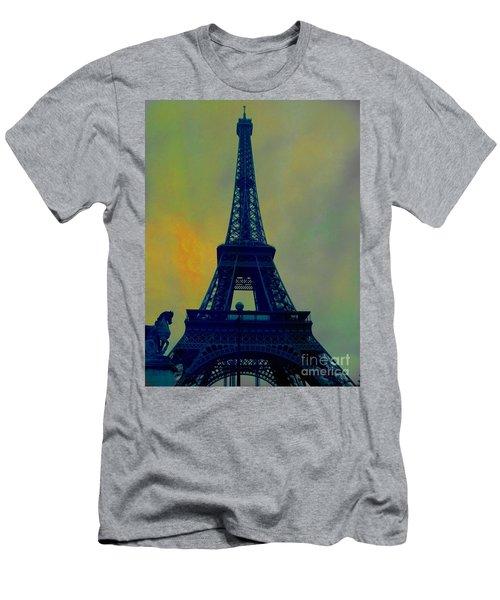 Evening Eiffel Tower Men's T-Shirt (Athletic Fit)