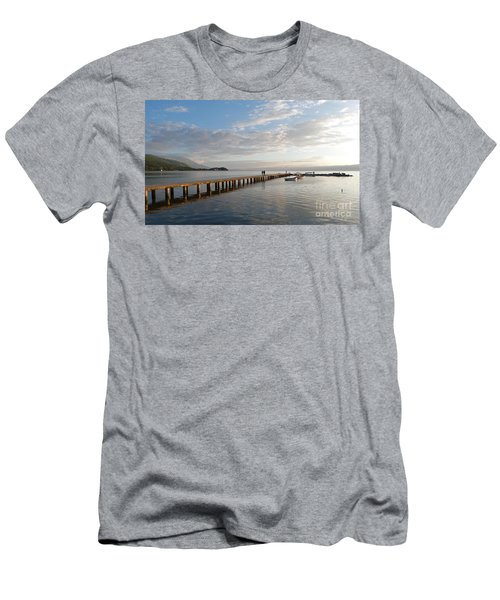 Evening - Lake Ohrid - Macedonia Men's T-Shirt (Slim Fit) by Phil Banks