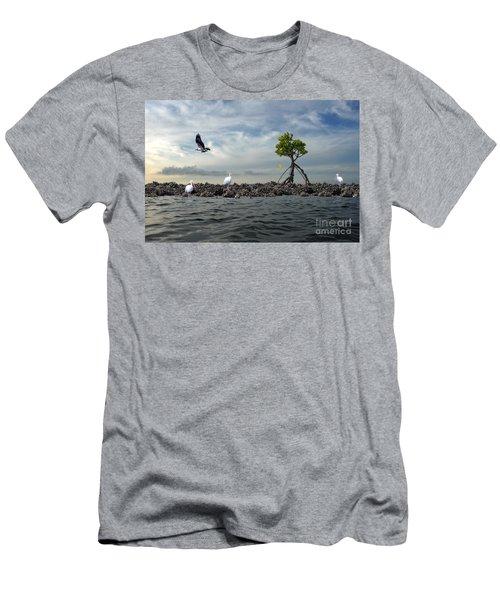 Men's T-Shirt (Slim Fit) featuring the photograph Everglade Scene by Dan Friend