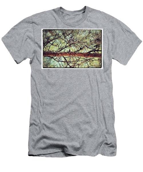 Men's T-Shirt (Slim Fit) featuring the photograph Evergreen Bird by Tara Potts