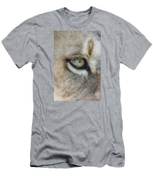 Men's T-Shirt (Slim Fit) featuring the photograph Eye Of The Lion by Judy Whitton