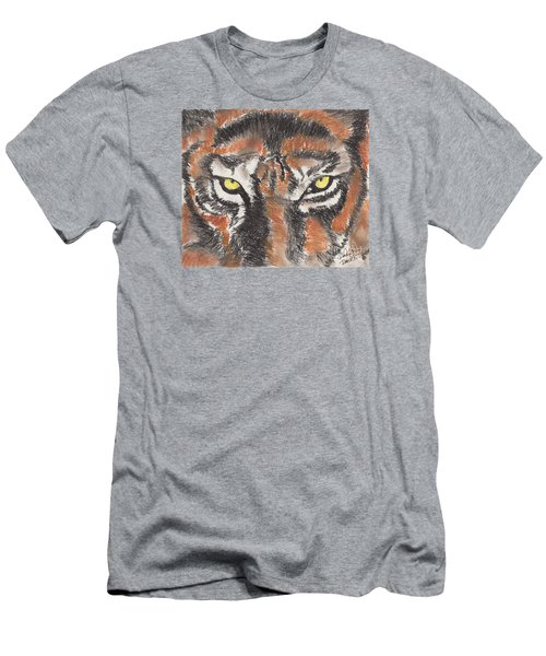 Eye Of The Tiger Men's T-Shirt (Slim Fit) by David Jackson