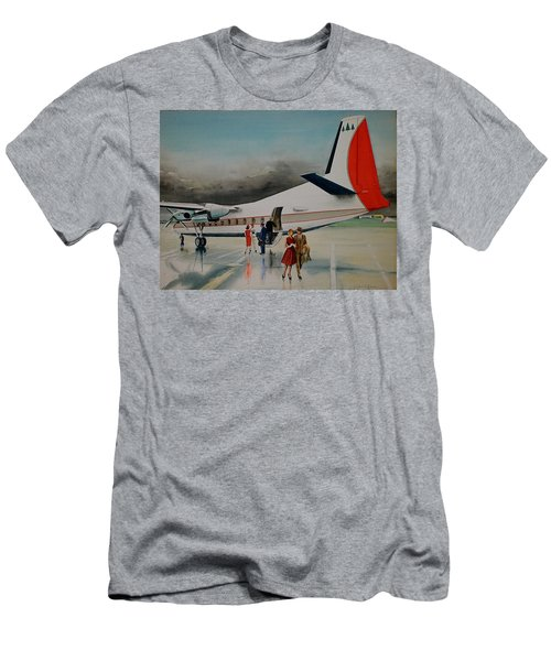 F-27 At Columbus Ohio Men's T-Shirt (Slim Fit) by Frank Hunter