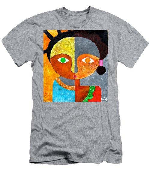Face 2 Men's T-Shirt (Athletic Fit)