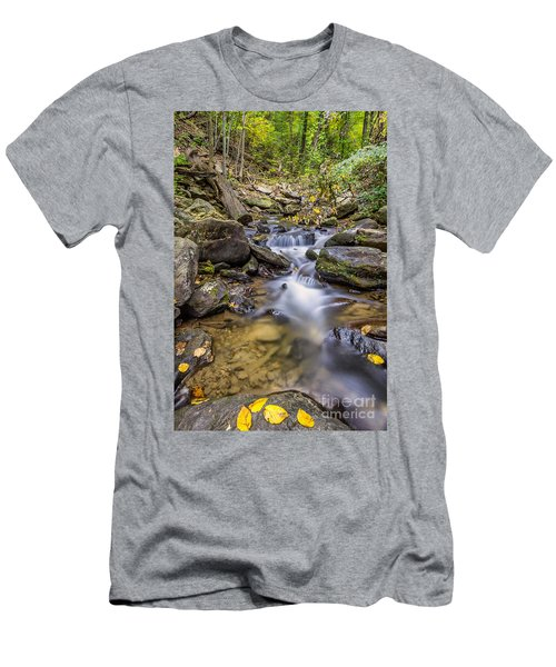 Fall Arrives At Amicalola Falls Men's T-Shirt (Athletic Fit)