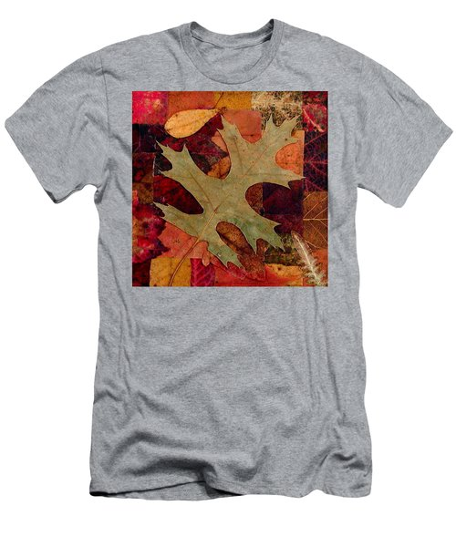 Fall Leaf Collage Men's T-Shirt (Slim Fit) by Anna Ruzsan