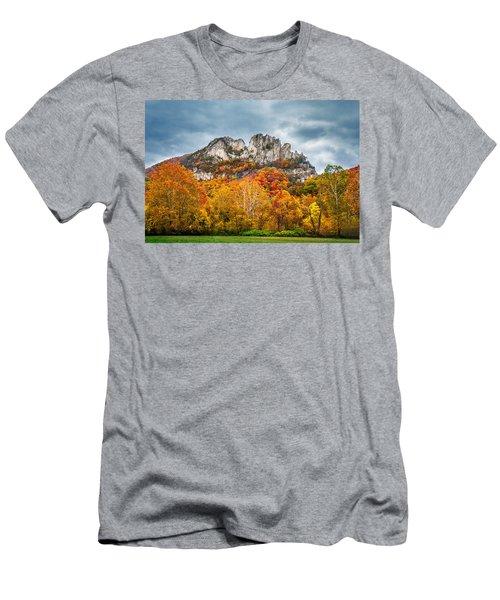 Fall Storm Seneca Rocks Men's T-Shirt (Slim Fit) by Mary Almond