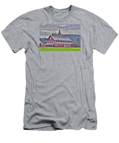 Fancy Red Barn Men's T-Shirt (Slim Fit) by Shelly Gunderson
