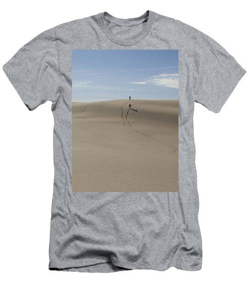 Men's T-Shirt (Slim Fit) featuring the photograph Far Away In The Sand by Tara Lynn
