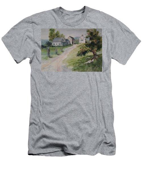 Farm On Orchard Hill Men's T-Shirt (Slim Fit) by Joy Nichols