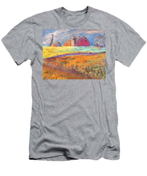 Farmland Sunset Men's T-Shirt (Athletic Fit)