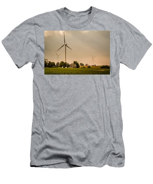 Farms And Windmills Men's T-Shirt (Athletic Fit)