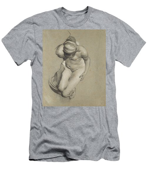 Female Nude  Men's T-Shirt (Athletic Fit)