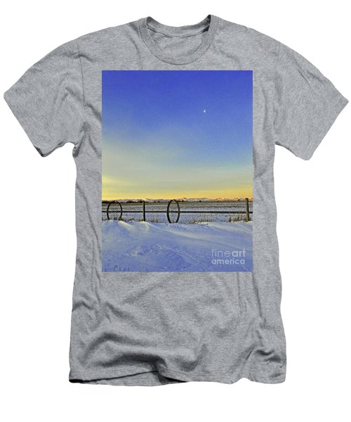 Fence And Moon Men's T-Shirt (Athletic Fit)