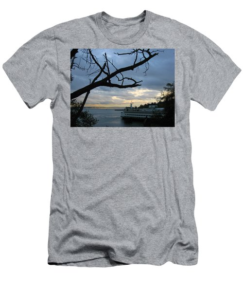 Ferryboat To Seattle  Men's T-Shirt (Athletic Fit)