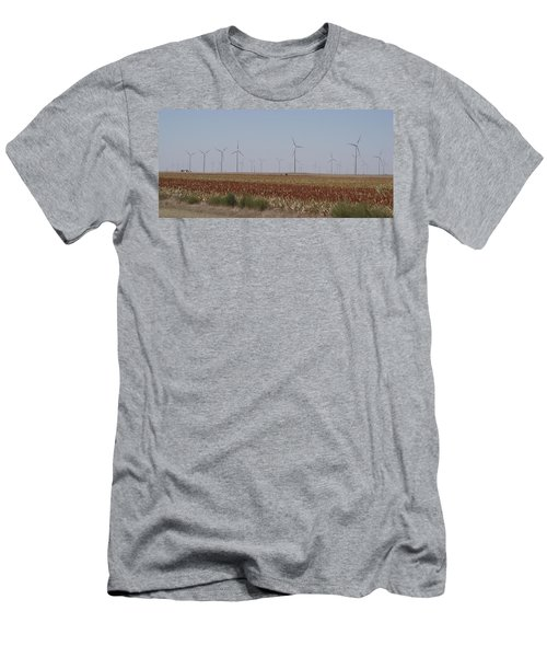 Men's T-Shirt (Slim Fit) featuring the photograph Field Of Wind by Fortunate Findings Shirley Dickerson
