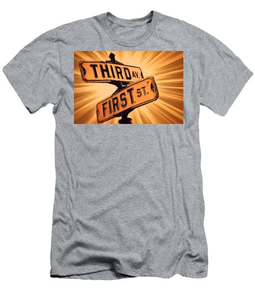 First And Third Men's T-Shirt (Athletic Fit)