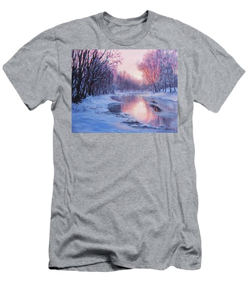 Men's T-Shirt (Slim Fit) featuring the painting First Light by Karen Ilari