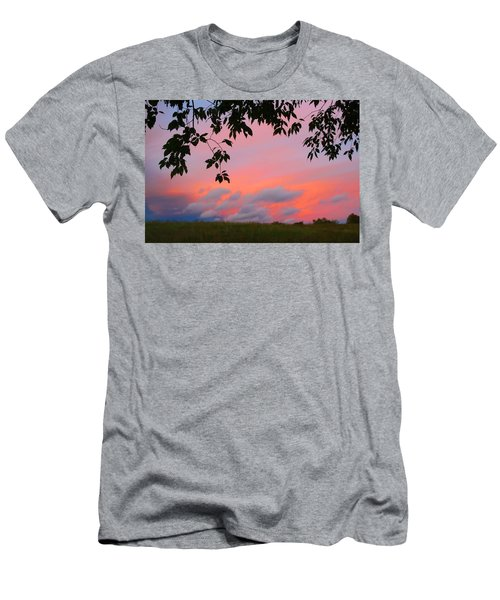 Men's T-Shirt (Slim Fit) featuring the photograph First October Sunset by Kathryn Meyer