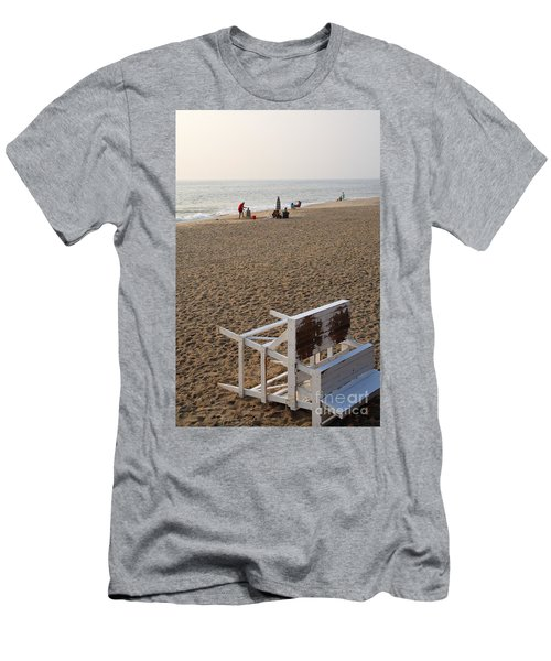 First On The Beach At Bethany Beach In Delaware Men's T-Shirt (Athletic Fit)