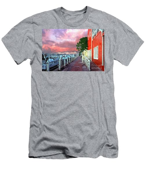 Men's T-Shirt (Slim Fit) featuring the photograph Fisherman's Village Marina Del Mar Ca by David Zanzinger