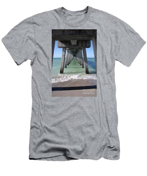Fishing Pier Architecture Men's T-Shirt (Athletic Fit)